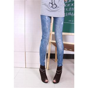 Fashion Thicken Leggings, Sexy Blue Thicken Pants, Blue Thicken Jeans, #L5257