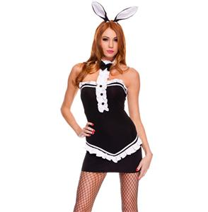 Black Tuxedo Bunny Costume, Bunny Halloween Costume, Bunny Rabbit Costume, #N4728