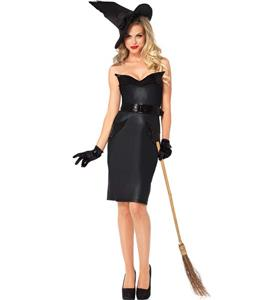 Black Vintage Witch Costume N9368