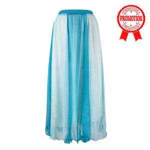 Blue Gradient Maxi Boho Skirt N9065