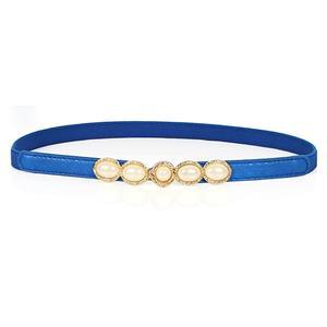 Luxury Pearl Waist Belt, Pearl Blue Waist Belt, Luxury Leather Waist Belt Silver, Waist Belt for Women, Fashion Dress Waist Belt, Pearl Girdle for Women, #N16935