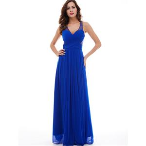Sleeveless V Neck Long Dress, Backless Beaded A-Line Dress, Women