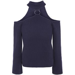 Blue Long Sleeve Sweater, Women