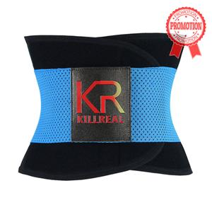 Workout Sport Gym Blue Waist Trainer Belt Body Shaper for Hourglass Shape N11019
