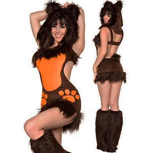 Sexy Bear Costume, Bodacious Bear Costume Dress, Adult Bear Costume, Brown Bear Costume, #N4284