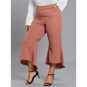 Bellbottoms for Women, Full Length Bellbottoms, Street Casual Bellbottoms, Women Casual Bellbottoms, Fashion Bellbottoms Brick Red, Fashion Bellbottoms for Women, #N15459