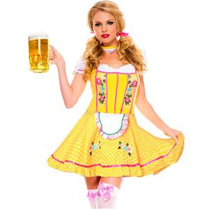 Sexy Oktoberfest Beer Stein Babe Costume, Fancy Beer Women