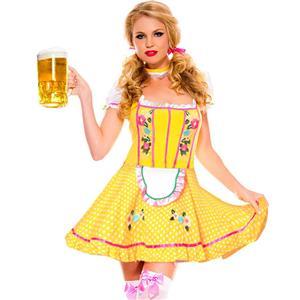 Sexy Oktoberfest Beer Stein Babe Costume, Fancy Beer Women