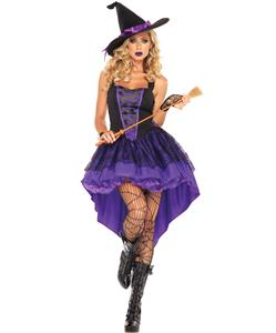 Broomstick Babe Costume, Witch Costume, Purple Witch Costume, Broomstick Costume, Wizard Costume, Sexy Witch Costume, Spooky Costume, #N5864