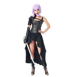 Steampunk Body Shaper Corset, Cheap Outerwear Corset Skirt Set, Retro Overbust Corset Skirt Set,Faux Leather Overbust Corset Skirt Set, Plastic Bone Shapewear Overbust Corset Set, #N20223