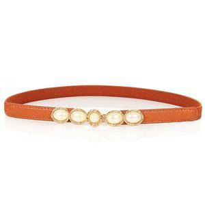 Luxury Pearl Waist Belt, Pearl Brown Waist Belt, Luxury Leather Waist Belt Silver, Waist Belt for Women, Fashion Dress Waist Belt, Pearl Girdle for Women, #N16936