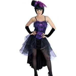Purple Burlesque Beauty Costume, Burlesque Babe Adult Costume, Burlesque Baby, #N4299