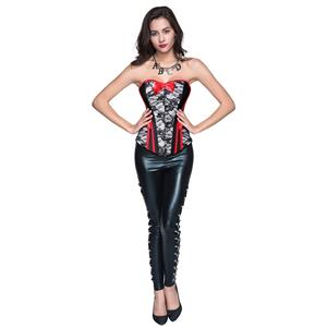 Halloween Corset Pant Set for Women Sexy, Burlesque Costume for Women, Sexy Halloween Clothing for Women, #N12769