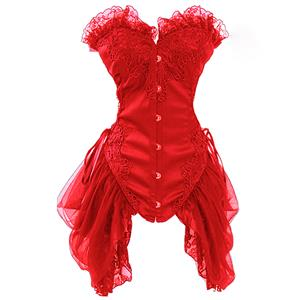Burlesque Red Bustier N6402