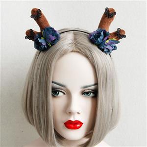 Hairbands for Girls, Ladies Hair Band, Black Hair Clasp, Elk Horn Hair Hoop, Hair Hoops for Party, Decorative Ornaments, Girl