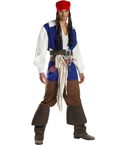 Teen Costumes, Pirate Costumes for Couples, Captain Jack Sparrow Adult Costume, #N5463