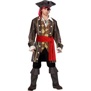 Captain Skullduggery Pirate Costume, Deluxe Captain Pirate Costume, Captain Darkheart Costume, #P7835