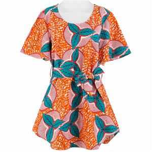 Cotton Blouse, Sexy Tunic Top,  African Print Blouse, Women