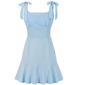 Fashion OL Dress, Fashion Summer Mini Dress, Sexy High Waist Dress, Cheap Party Dress Wholesale, Retro Dresses for Women, Summer Vintage Dresses, Plus Size Summer Dress, Vintage High Waist Dress, Simple Summer Dresses, #N19074