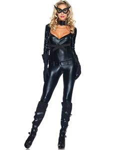 Cat Girl Costume, Batman Costume, Dark Knight Rises Costume, Black Cat Girl Costume, Superhero Costume, Villain Costume, #N4627
