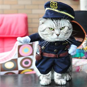 Cats Cop Costume, Pet Dressing up Party Clothing, Cat