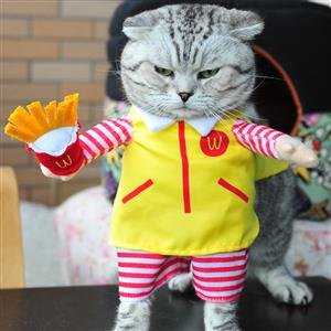 Waiter Uniform Costume for Cat, Pet Dressing up Party Clothing, Cat