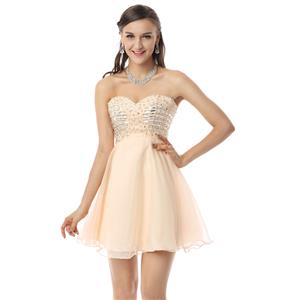 Cheap Cocktail Dress, Girls Homecoming Dress, Champagne Prom Dresses, Fashion Chiffon Dresses on sale, Buy Discount Dress, #Y30054