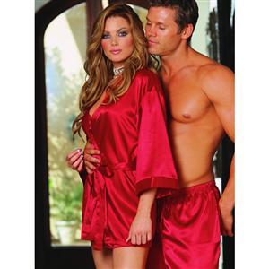 Valentines Lingerie, Charmeuse Reversible Robe, Chemise, sleepwear, #C1809