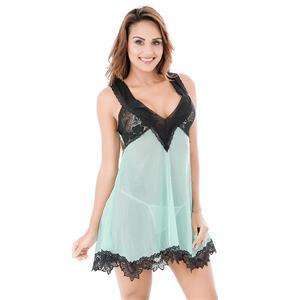Sexy Babydoll Dress, Womens Tulle Dress Lingerie, Sexy Chemise, Sexy Underwire Babydoll Lingerie, #N12675