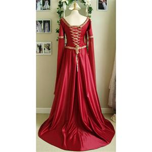 long-sleeved princesse, Chest strap long-sleeved princesse, Red long-sleeved princesse, #N4866
