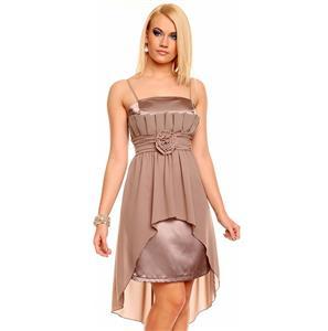 Cocktail Kleid, Chiffon Abendkleid, Edles Satin Chiffon ABENDKLEID Ballkleid, #N5977