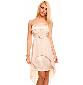 Beige Chiffon Cocktail Kleid N5978