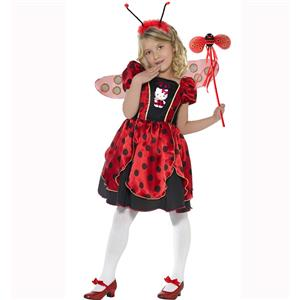 Child Hello Kitty Costume, Hello Kitty Lady Bug Fairy Costume, Hello Kitty ladybug costume for girl, #N5988