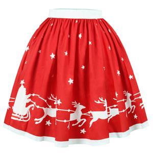 Christmas Skater Skirt, Sexy Skater Skirt for Women, A Line Pleated Skirt, Christmas Holiday Print Skirt, Retro Fashion Skirts, Christmas 3d Digital Print Skater Skirts, #N15069