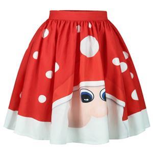 Christmas Skater Skirt, Sexy Skater Skirt for Women, A Line Pleated Skirt, Christmas Holiday Print Skirt, Retro Fashion Skirts, Christmas 3d Digital Print Skater Skirts, #N15073