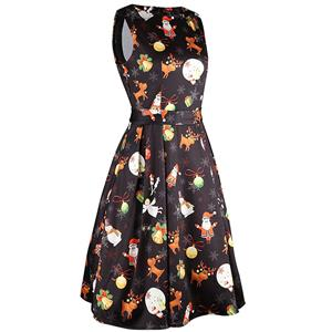 Christmas Sleeveless Dress, Cheap Women