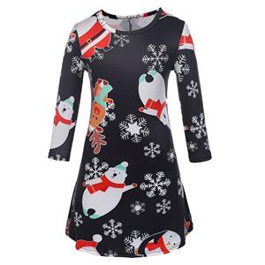 Christmas Long Sleeve Dress, Cheap Women