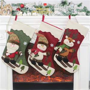 Lovely Christmas Stocking, Christmas Tree Stocking Shop Window Decorations, Cute Christmas Tree Toys, Christmas Tree Party Decorations, Christmas Eve Stocking Dinner Party Accessories, Lovely Christmas Eve Party Decorations, Merry Christmas Stocking Decoration, #XT20035