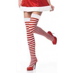Nylon Fishnet Thigh High Stockings, fishnet hosiery, fishnet garter, Christmas Stockings, #HG1749