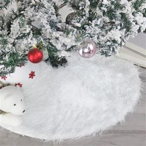 Christmas Tree Skirt White Faux Fur 78cm Dinner Party Decoration XT19908