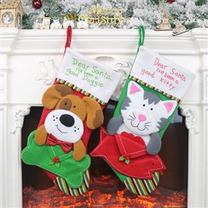 Christmas Stocking for Pets, Christmas Tree Stocking Shop Window Decorations, Cute Christmas Tree Toys, Christmas Tree Party Decorations, Christmas Eve Stocking Dinner Party Accessories, Lovely Christmas Eve Party Decorations, Merry Christmas Stocking Decoration, #XT20033