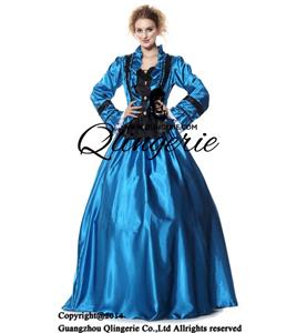 Civil War Victorian Satin Ball Costumes N9304