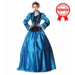 Civil War Victorian Satin Ball Costumes N9304