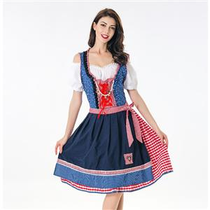 Classical Beer Girl Oktoberfest Costume, Adult Germany Beer Girl Costume, Bavarian Oktoberfest Costume for Women, Bavarian Beer Girl Adult Costume, Adult Bar Waitress Cosplay Costume, #N17990