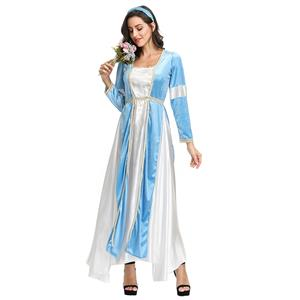 Maiden Renaissance Costume, Medieval Princess Costume for Women, Renaissance Beauty Cosplay Costumes, Medieval Ladies Robe Halloween Costumes, #N19150