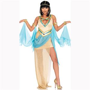 Egyptian Queen Role Play Costume, Classical Egyptian Queen Halloween Costume, Noble Adult Cleopatra Dance Costume, Egyptian Queen Adult Dance Costume, Cleopatra Halloween Adult Cosplay Costume, #N17198