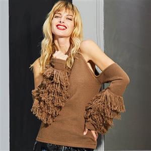 Coffee Heap Sleeve Sweater, Women
