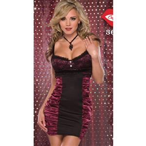 Valentine Gifts for Her, Sexy Contrast halter mini dress, dress, mini dress, #N2305