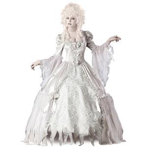 Corpse Countess Costume, Corpse Costume, Corpse Bride Costume, Corpse Bride Halloween Costume, Bride Corpse Costume, Ghost Countess Costume, White Deluxe Palace Stylle Countess Costume, Victorain Ghpst Costume#N6532