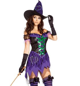 Crafty Cutie Costume, Womens Witch Costume, Witch Halloween Costume, #N5861